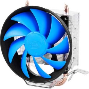 Product details of Gammaxx 200T CPU Cooler - Blue and Silver Type :CPU Cooler Speed : 900+-150 - 1500+-10%RPM Voltage :10.8 - 13.2VDC Compatibility : LGA2011-v3/LGA2011/LGA1366/LGA1156/LGA1155/ LGA1150/LGA1151/LGA775, AM4/FM2+/FM2/FM1/AM3+/AM3/AM2+/AM2 Others : Fan Dimension: 120 x 120 x 25mm Max. Air Flow: 74.34CFM Dimension : 135 x 80 x 154.5mm About Gammaxx 200T CPU Cooler The next-gen GAMMAXX 200T has preserved the essential features and great heat dissipation performance of the GAMMAXX 200: Core Touch Technology (CTT) directly transfers heat from the CPU to the heatsink. GAMMAXX 200T has upped its ante with a massive heatsink and an enlarged 12cm PWM fan, providing a more powerful airflow and enhanced cooling performance.2 sintered metal powder heatpipes directly contacting the CPU surface for removing heat and eliminating chances of overheating. Equipped with multiple clips to support Intel LGA115X/1155/1151/1150/775 and AMD AM4/FM2/FM1/AM3+/AM3/AM2+/AM2/K8. Specifications of Gammaxx 200T CPU Cooler - Blue and Silver Brand Deepcool SKU DE162EL1IJ804NAFAMZ-279806 Warranty Policy EN 1 Year Model Gammaxx 200T What's in the boxGammaxx 200T CPU Cooler - Blue and Silver